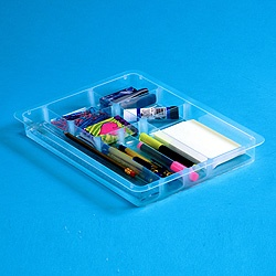 Lipped stationery tray