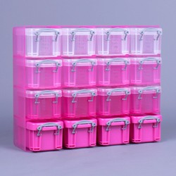 0.14 litre Really Useful Organiser Pack (Graduated Pink)