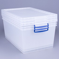 62 litre nestable Really Useful Box (3 pack)
