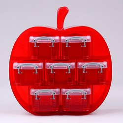 Small apple organiser with 7x0.14 litre Really Useful Boxes