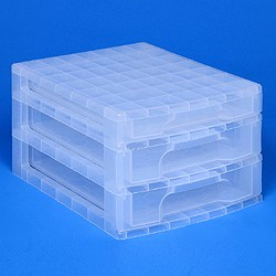 Desktop organiser with 1x3 + 2x5 litre Really Useful Drawers