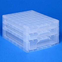 Desktop organiser with 2x3 + 1x5 litre Really Useful Drawers
