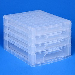 Desktop organiser with 3x3 + 1x5 litre Really Useful Drawers