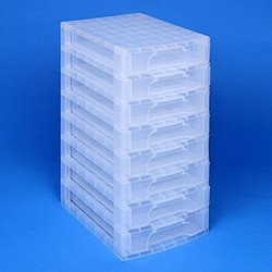 Desktop organiser with 8x5 litre Really Useful Drawers