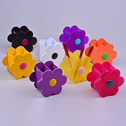 Flower pencil pot