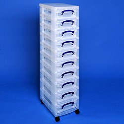 Storage tower with 10x4 litre Really Useful Boxes