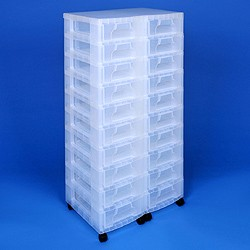 Storage tower double with 20x7 litre Really Useful Drawers