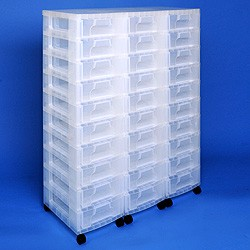 Storage tower triple with 30x7 litre Really Useful Drawers