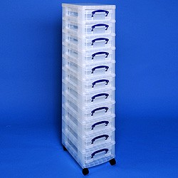 Storage tower with 11x4 litre Really Useful Boxes