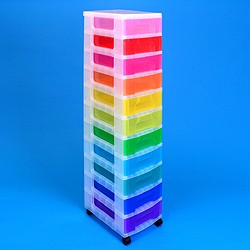 Storage tower with 11x7 litre Really Useful Drawers