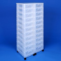 Storage tower double with 22x7 litre Really Useful Drawers
