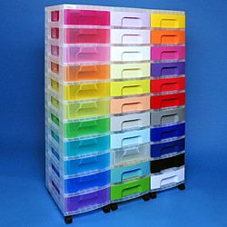 Storage tower triple with 33x7 litre Really Useful Drawers