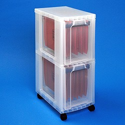 Storage tower with 2x25 litre Really Useful Drawers