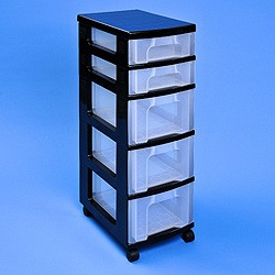 Storage tower with 2x7 + 3x12 litre Really Useful Drawers
