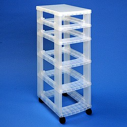 Storage tower WITHOUT 2x7 + 3x12 litre Really Useful Drawers