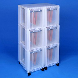 Storage tower double with 6x25 litre Really Useful Drawers