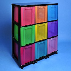Storage tower triple with 9x25 litre Really Useful Drawers