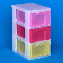 Storage tower with 3x12 litre Really Useful Drawers
