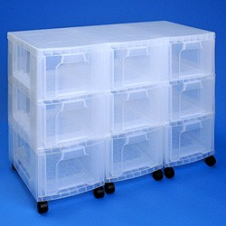 Storage tower triple with 9x12 litre Really Useful Drawers