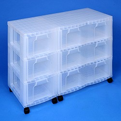 Storage tower triple with 3x12 + 3x30 litre Really Useful Drawers