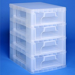 Storage tower with 4x7 litre Really Useful Drawers