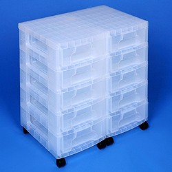 Storage tower double with 10x7 litre Really Useful Drawers
