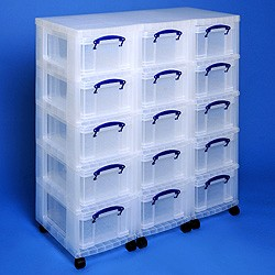 Storage tower triple with 15x9 litre Really Useful Boxes