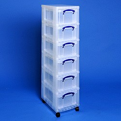 Storage tower with 6x9 litre Really Useful Boxes