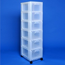 Storage tower with 6x12 litre Really Useful Drawers