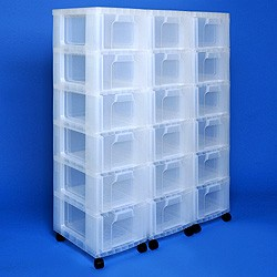 Storage tower triple with 18x12 litre Really Useful Drawers
