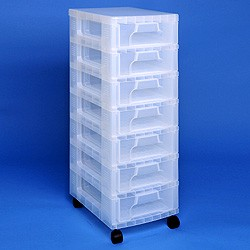 Storage tower with 7x7 litre Really Useful Drawers