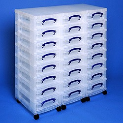 Storage tower triple with 24x4 litre Really Useful Boxes