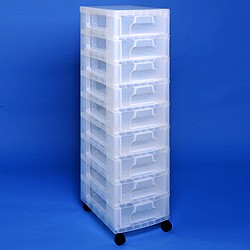 Storage tower with 9x7 litre Really Useful Drawers