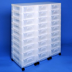 Storage tower triple with 27x7 litre Really Useful Drawers
