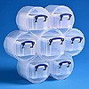 Large flower organiser with 6x0.3 + 1x0.7 litre Really Useful Boxes