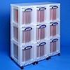 Storage tower triple with 9x19 litre boxes